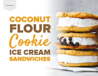 Coconut-Flour-Cookie-Ice-Cream-Sandwiches
